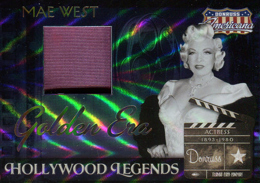 Americana Hollywood Legends Mae West Limited Costume Card HL-9 #42/50   - TvMovieCards.com