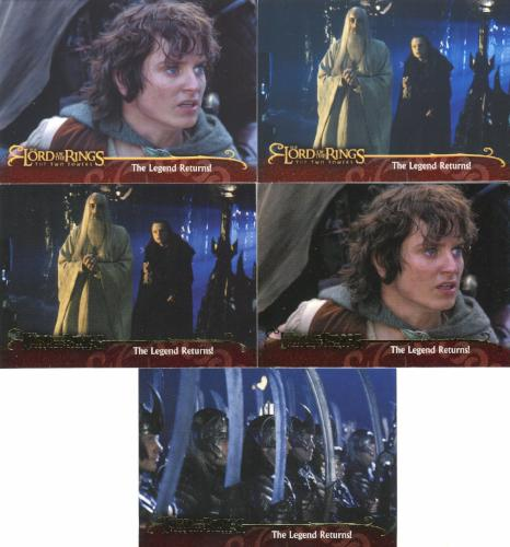Lord of the Rings Two Towers Promo Card Set 5 Cards   - TvMovieCards.com