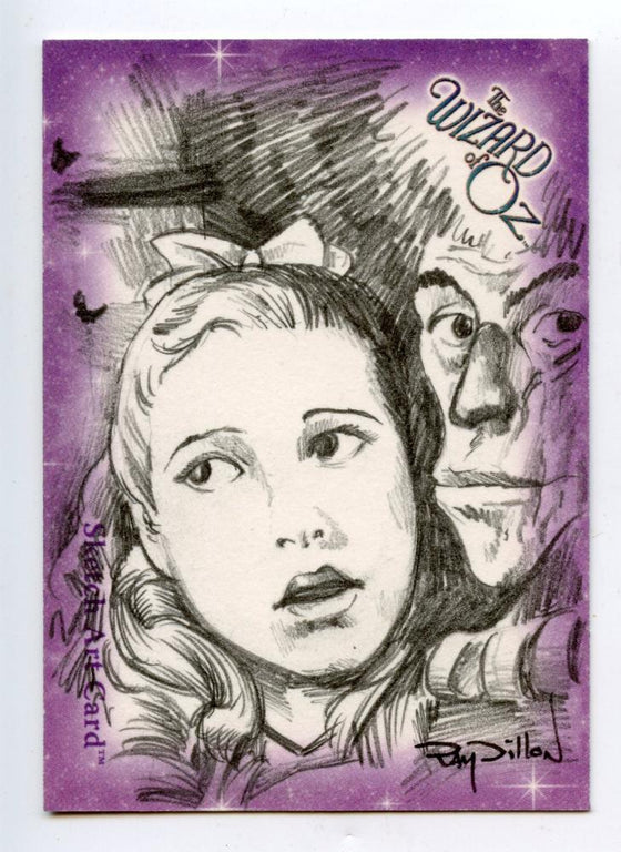 Wizard of Oz Sketch Card by Ray Dillon Dorthy- Purple/Black