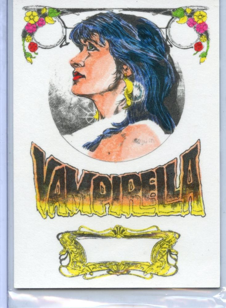 Vampirella New Series Hand Colored Card VH-3 by Aston Roy Cover