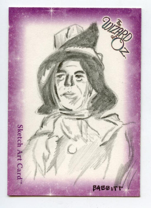 Wizard of Oz Sketch Card by Kyle Babitt The Scarecrow   - TvMovieCards.com