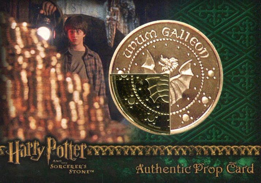 Harry Potter Sorcerer's Stone Wizard's Gold Galleon Prop Card HP #21/40   - TvMovieCards.com