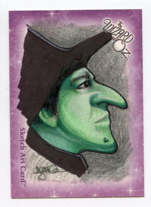 Wizard of Oz Sketch Card by Darla Ecklund  - Wicked Witch Color   - TvMovieCards.com