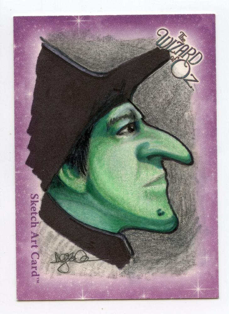 Wizard of Oz Sketch Card by Darla Ecklund  - Wicked Witch Color