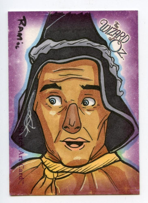 Wizard of Oz Sketch Card by Rich A. Molinelli - The Scarecrow Color   - TvMovieCards.com