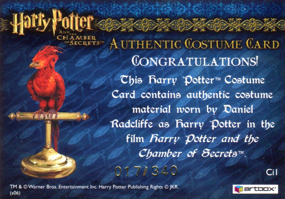 Harry Potter and the Sorcerer's Stone Cinema Film Cel Chase Card Set 9 Cards Front