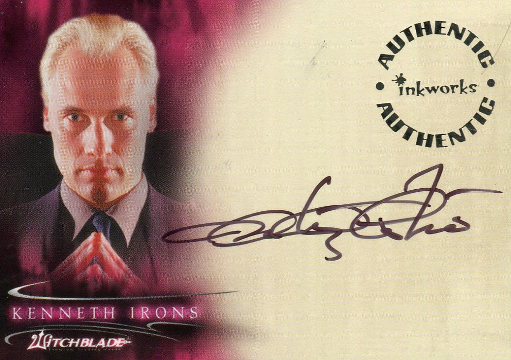 Witchblade Season 1 Anthony Cistaro as Kenneth Irons Autograph Card A4   - TvMovieCards.com