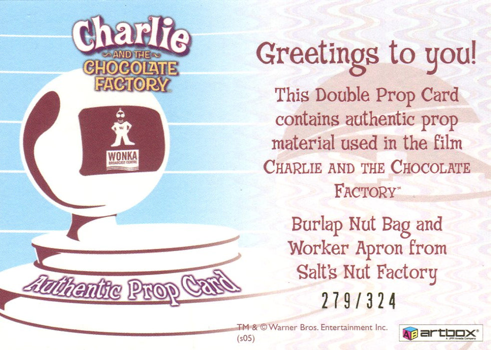 Charlie & Chocolate Factory Salt's Nut Factory Double Prop Card #279/324   - TvMovieCards.com