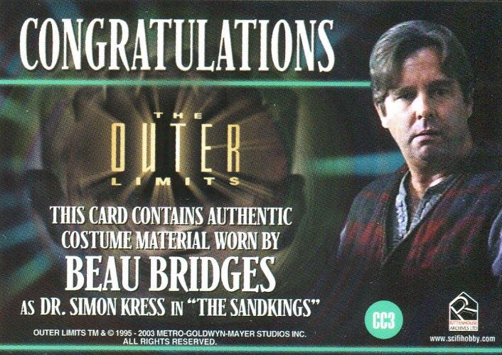 Outer Limits Sex, Cyborgs & Science Fiction Beau Bridges Costume Card CC3   - TvMovieCards.com