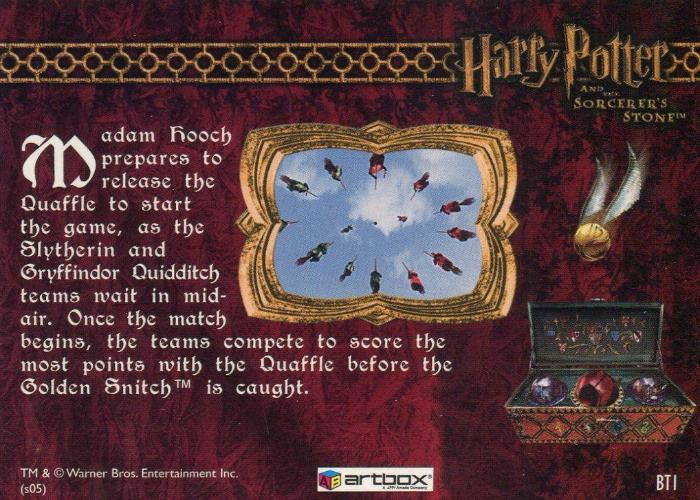 Harry Potter and the Sorcerer's Stone Box Topper Chase Card BT1   - TvMovieCards.com
