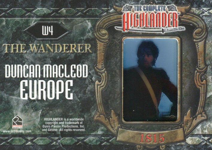 Highlander Complete The Wanderer Duncan MacLeod Europe W4 Chase Card   - TvMovieCards.com