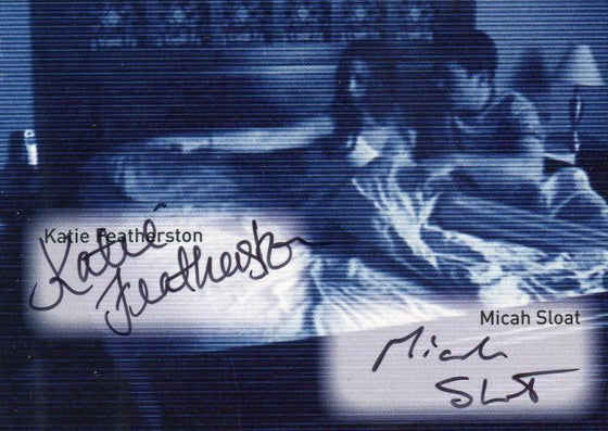 Paranormal Activity Katie Featherston & Micah Sloat Double Autograph Card Front