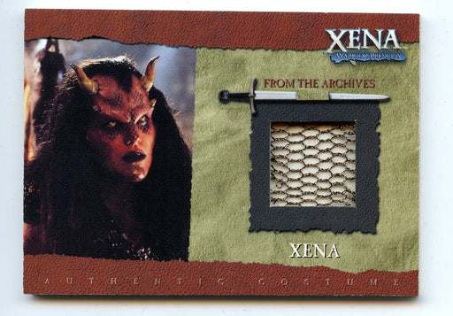 Xena Season Six Lucy Lawless as Demon Xena Costume Card R5 Copper Mesh   - TvMovieCards.com