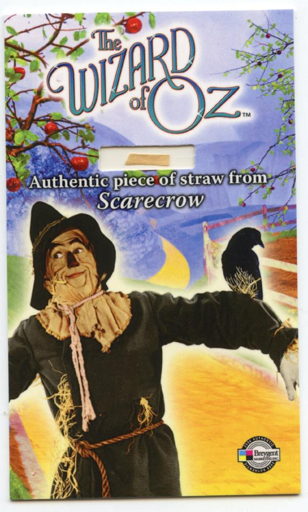 "Wizard of Oz Costume Card  SCSL  Scare Crow - Piece of Straw 3"" by 5"""