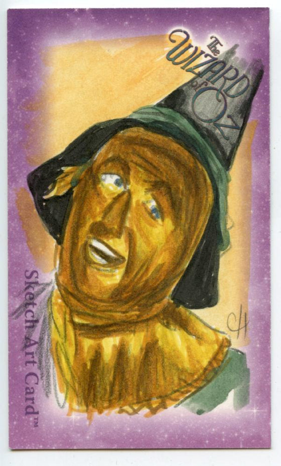 "Wizard of Oz Sketch Card by Chris Henderson  Tin Man Oversized (3"" x 5"")."