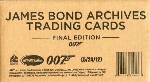 James Bond Archives 2017 Final Edition 12 Card Box Case Factory Sealed   - TvMovieCards.com