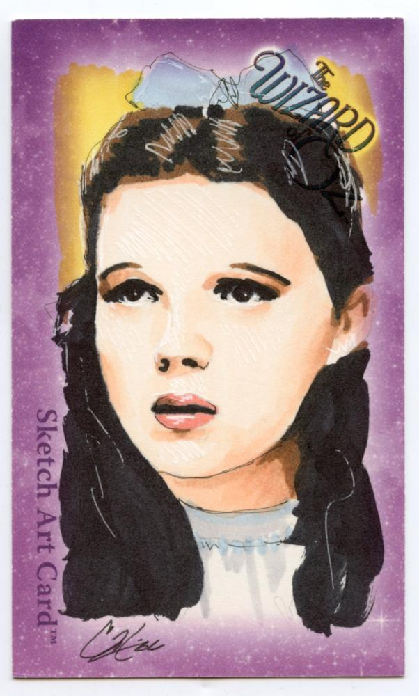 "Wizard of Oz Sketch Card by Cat Staggs  Dorthy 6 case incentive  Oversized (3"" x 5"")"