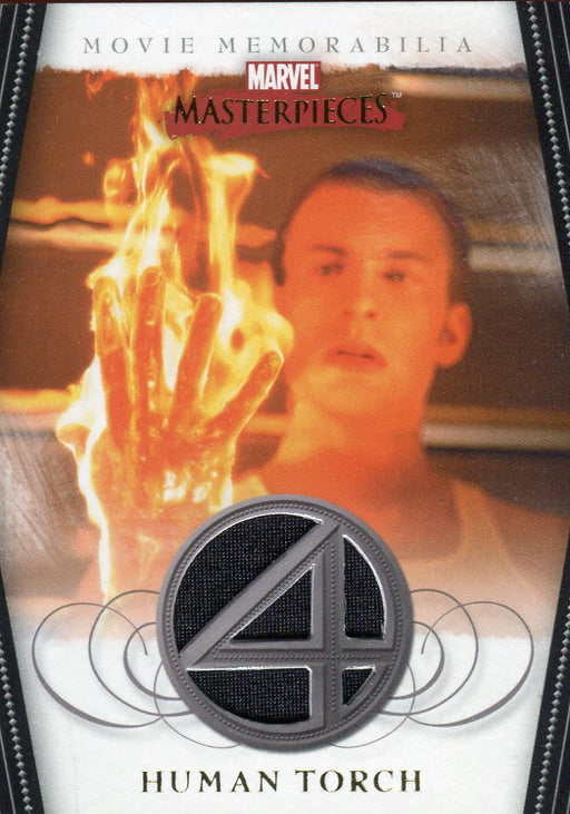 Marvel Masterpieces Two Fantastic Four Movie Human Torch Costume Card FF3 of 5   - TvMovieCards.com