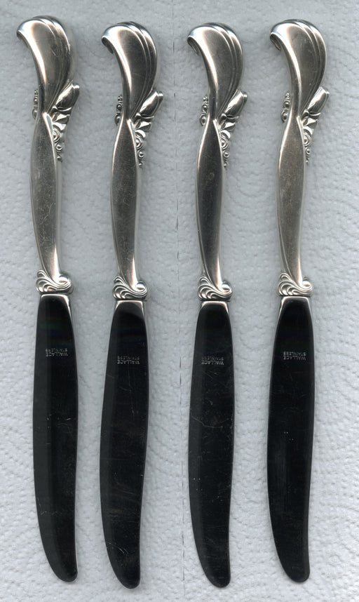 4 Waltz of Spring Knives by Wallace 9 inch Sterling Silver Handle Modern Blade   - TvMovieCards.com