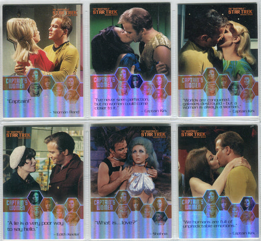 Star Trek TOS Quotable Captain's Women Chase Card Set (W1-W6)   - TvMovieCards.com