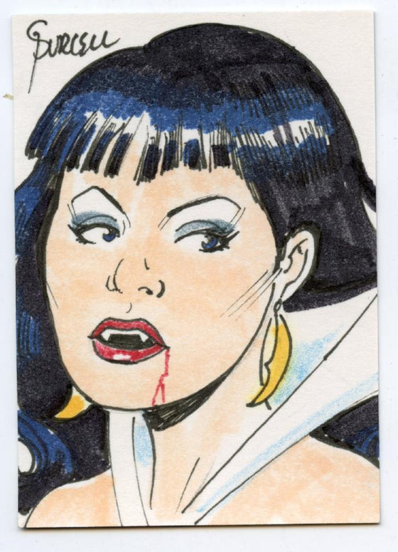 Vampirella New Series Sketch Card by Gordon Purcell