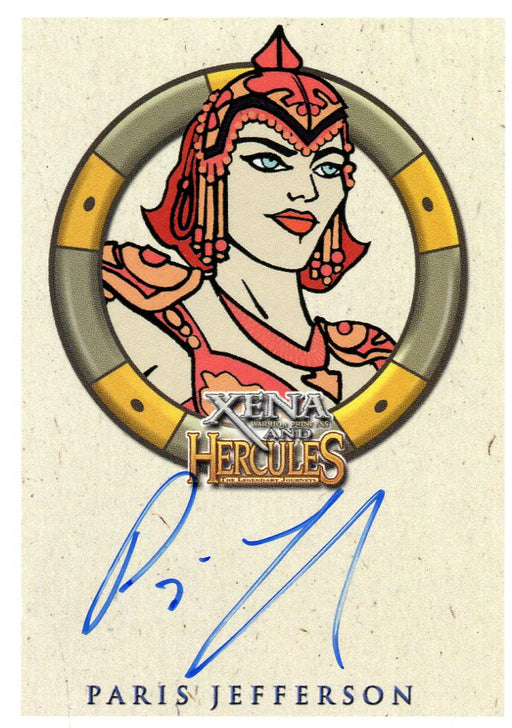 Xena & Hercules Animated Adventures Paris Jefferson Athena Autograph Card   - TvMovieCards.com