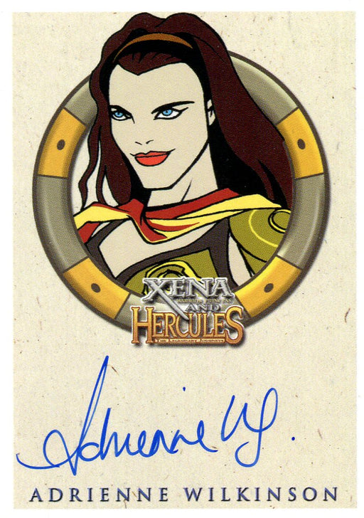 Xena & Hercules Animated Adventures Adrienne Wilkinson as Livia Autograph Card   - TvMovieCards.com