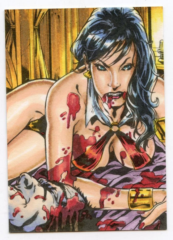 Vampirella New Series Hand Colored Card Vh-4 by Adam and Bekah Cleveland