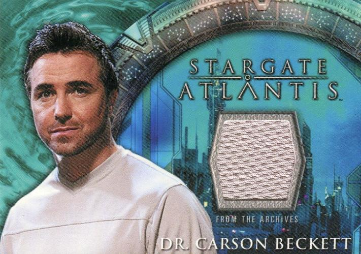 Stargate Atlantis Season One Dr. Carson Beckett Costume Card   - TvMovieCards.com