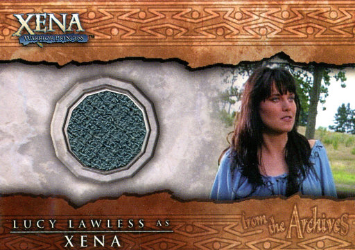 Xena The Quotable Xena Lucy Lawless as Xena Costume Card C14 Green   - TvMovieCards.com