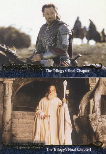 Lord of the Rings Return of King Promo Card Set 2 Cards   - TvMovieCards.com