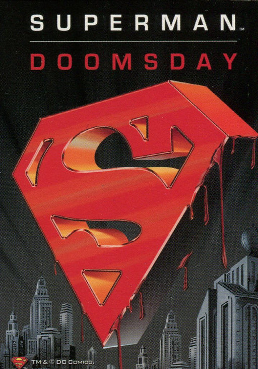DC Legacy Superman Doomsday Promo Card Target Exclusive   - TvMovieCards.com