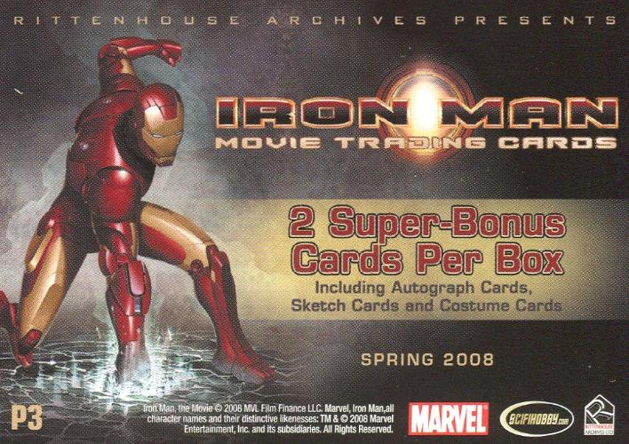 Iron Man Movie Collector Card Album with Promo P3   - TvMovieCards.com