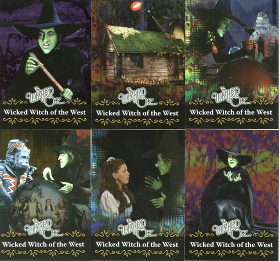 Wizard of Oz 6 Chase Card Set Wicked Words Foil Cards WW1- WW6