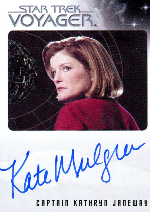 Star Trek Voyager Heroes & Villains Autograph Card Kate Mulgrew as Captain Janeway   - TvMovieCards.com
