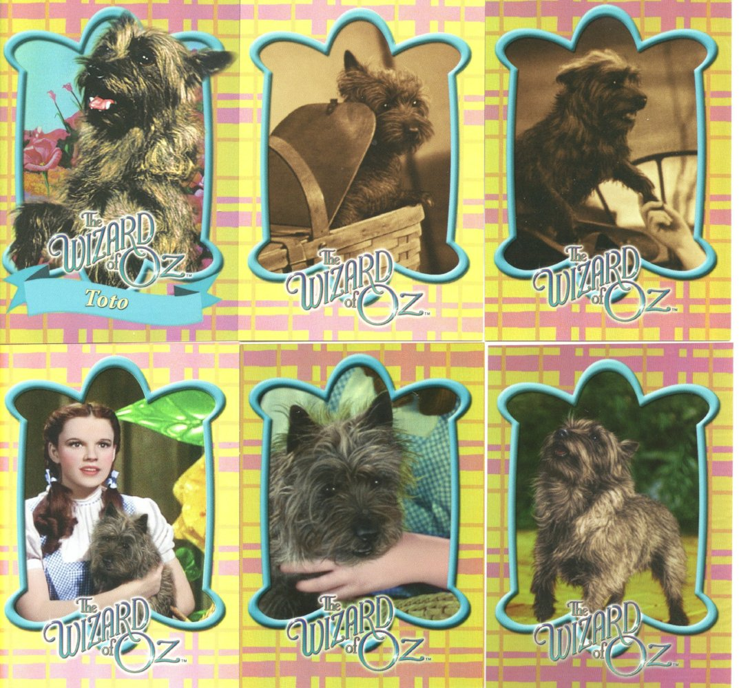Wizard of Oz 6 Chase Card Set  Breygent Toto Foil Cards TD1-TD6