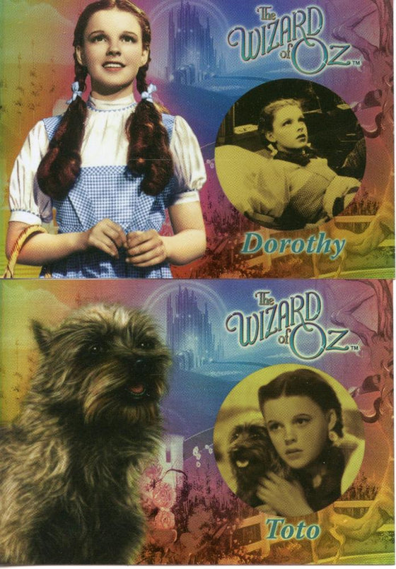 Wizard of Oz 2 Chase Card Set  Breygent Before and After Cards B&A1 B&A2