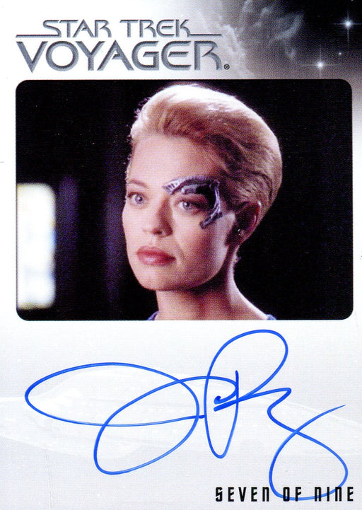 Star Trek Voyager Heroes & Villains Autograph Card Jeri Ryan as Seven of Nine   - TvMovieCards.com