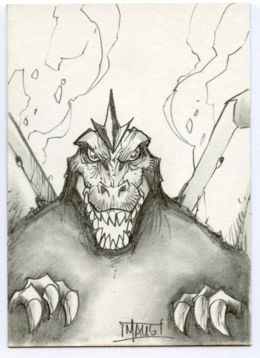 GODZILLA: KING OF THE MONSTERS Sketch Card by Bill Maus Space Godzilla   - TvMovieCards.com