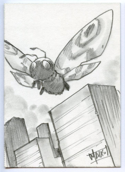 GODZILLA: KING OF THE MONSTERS Sketch Card by Bill Maus Mothra   - TvMovieCards.com