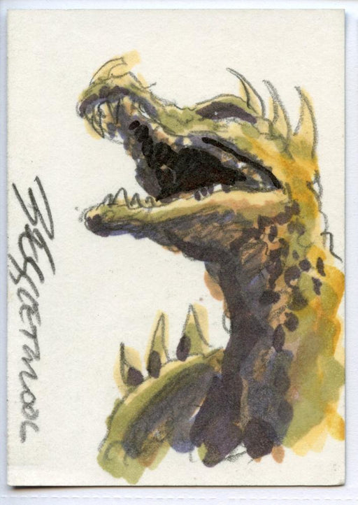 GODZILLA: KING OF THE MONSTERS Sketch Card by Bob Eggleton Color Anguirus   - TvMovieCards.com