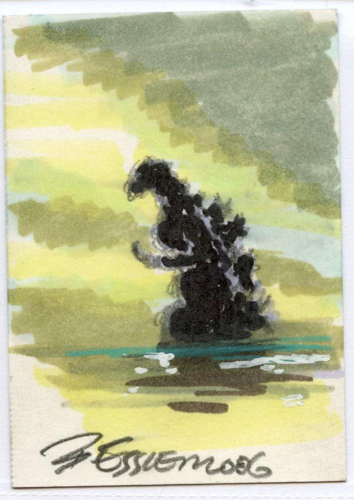 GODZILLA: KING OF THE MONSTERS Sketch Card by Bob Eggleton Color Godzilla   - TvMovieCards.com