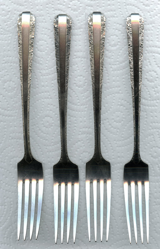 4 Candlelight Forks  7-1/4 Inch by Towle Sterling Silver   - TvMovieCards.com