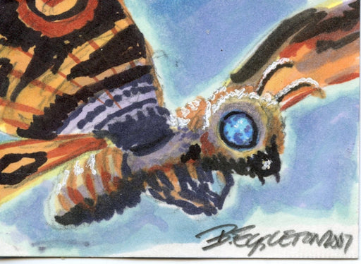 GODZILLA: KING OF THE MONSTERS Sketch Card by Bob Eggleton Color Mothra   - TvMovieCards.com