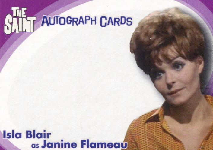Saint The Very Best of The Saint Isla Blair Unsigned Autograph Card SA8 Front