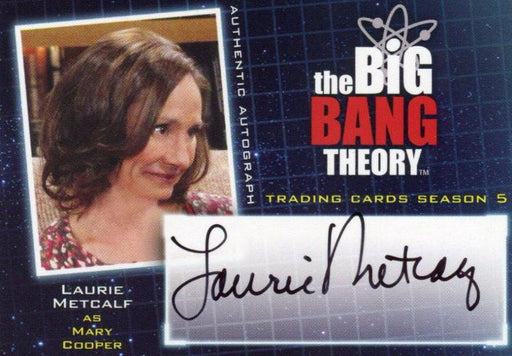 Big Bang Theory Season 5 Laurie Metcalf as Mary Cooper Autograph Card A20   - TvMovieCards.com