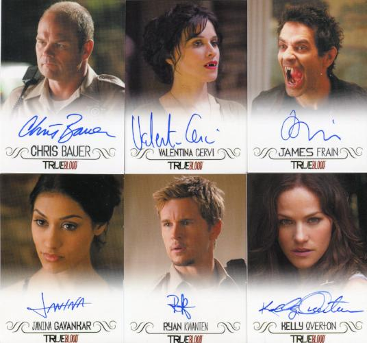 True Blood Archives Autograph Card Lot 10 Cards Front3
