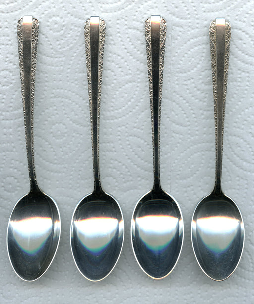 4 Candlelight Teaspoons 6 Inch by Towle Sterling Silver 4pc   - TvMovieCards.com
