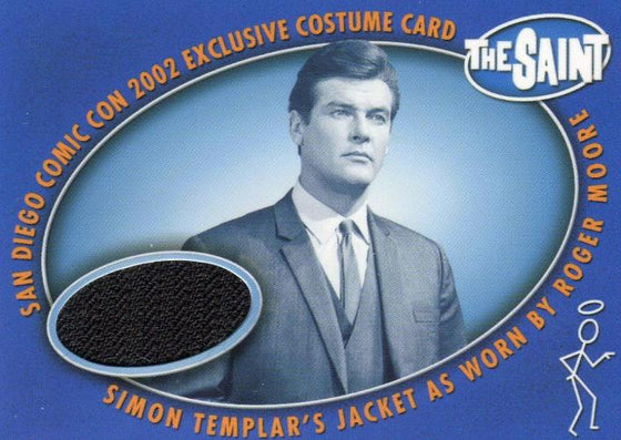 Saint The Very Best of The Saint Roger Moore Suit Jacket Comic Con Costume Card SDC-1 Front