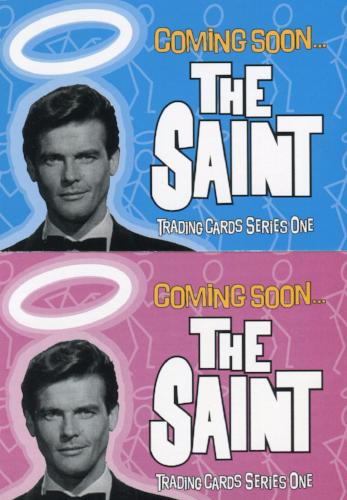 Saint The Very Best of The Saint Promo Card Set 2 Cards Front
